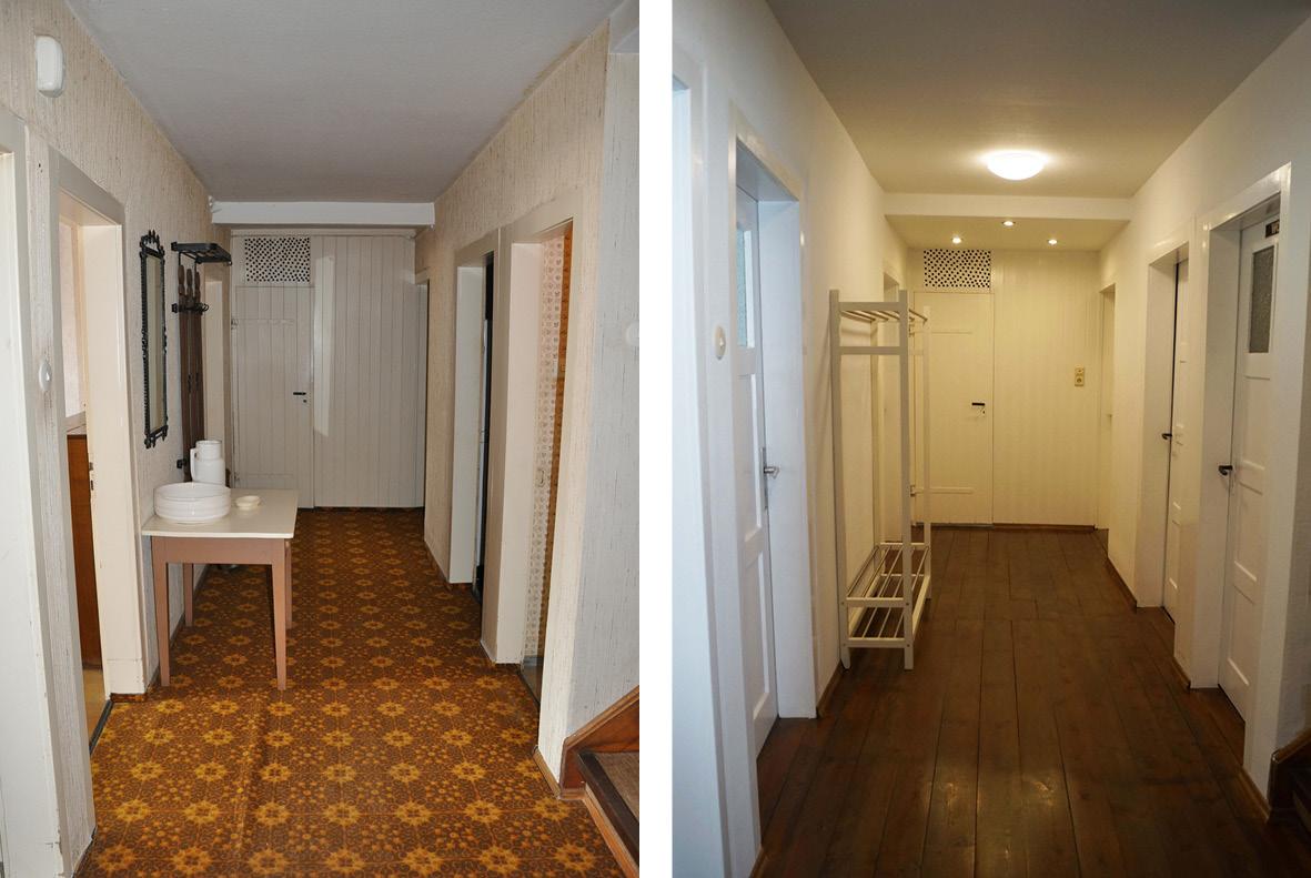 Der renovierte Gang - the renovated hallway - MEIN HAUS IM ...